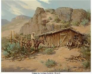 67023: Olaf Wieghorst (American, 1899-1988) Line Camp O