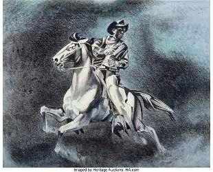 67024: Tom Lea (American, 1907-2001) Night Rider Getawa