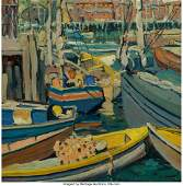 Jane Peterson (American, 1876-1965) Boats at Har