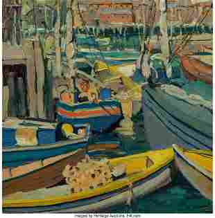 67127: Jane Peterson (American, 1876-1965) Boats at Har