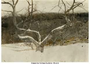 67153: Andrew Newell Wyeth (American, 1917-2009) Hill O