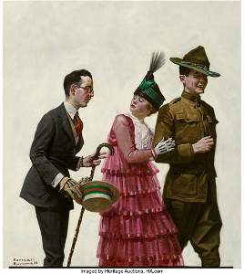 67168: Norman Rockwell (American, 1894-1978) Excuse Me!