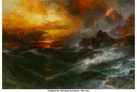 67079: Thomas Moran (American, 1837-1926) A Mountain of