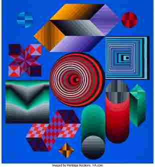 77047: Victor Vasarely (1906-1997) CHOKK, 1976 Acrylic