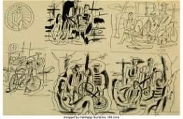 """77009: Fernand Léger (1881-1955) Six Études pour """"Les"""