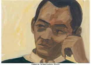 77024: Alex Katz (b. 1927) Study for Portrait of Kynast