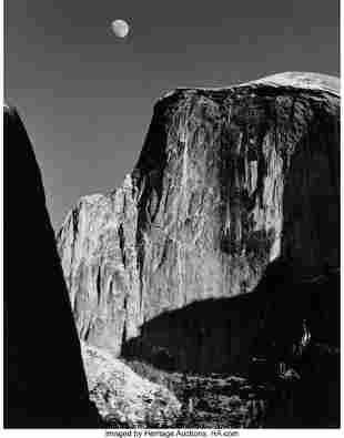 38005: Ansel Adams (American, 1902-1984) Moon and Half