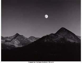 38007: Ansel Adams (American, 1902-1984) Moonrise from