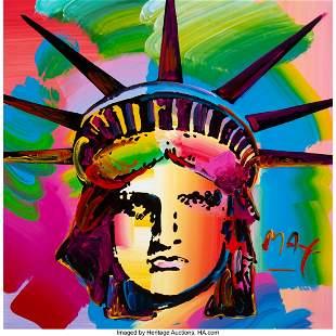 27196: Peter Max (American, b. 1937) Liberty Head, 1993