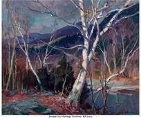 27036: Emile Albert Gruppe (American, 1896-1978) Birche