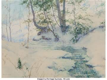27042: Walter Launt Palmer (American, 1854-1932) Snowy
