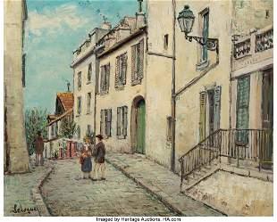 27116: Alois Lecoque (Czech, 1891-1981) A Parisian Stre