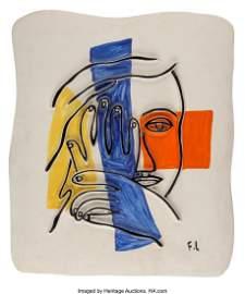 40068: Fernand Léger (1881-1955) Visage Aux Deux Mains