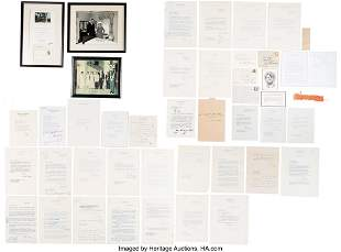 47282: Large Archive of Signed Letters and Photographs