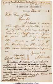 47214: Abraham Lincoln Autograph Letter Signed Regardin