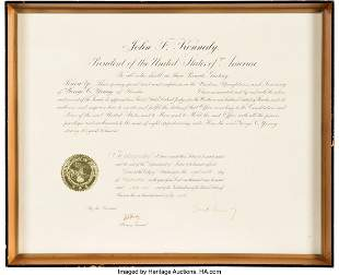 47274: John F. Kennedy and Robert F. Kennedy Signed App