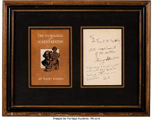 47360: Harry Houdini Inscription and Signature. One pag