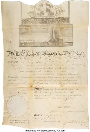 47186: James Madison and James Monroe Scalloped-Top Shi