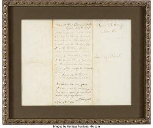 47221: Abraham Lincoln Autograph Endorsement Signed.  O