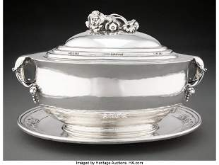 74242: A Georg Jensen No. 337 Silver Covered Bowl and U
