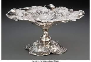74090: A Shreve & Co. Art Nouveau Silver Compote, San F