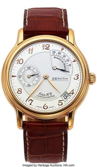 "Zenith, 18k Pink Gold ""Elite HW Chronomaster, Da"