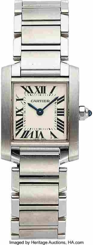 Cartier, Lady's Steel Tank Francaise, Ref. 2384