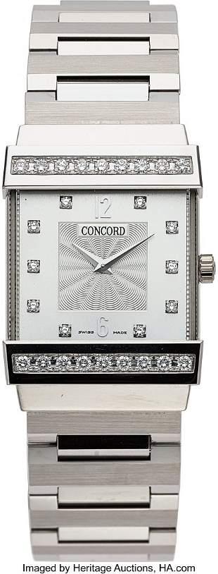 "Concord, Elegant White Gold ""Crystal Top Hat"" Di"