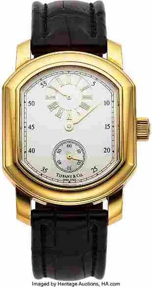 Tiffany & Co., 18k Gold Regulator Dial Watch, ci