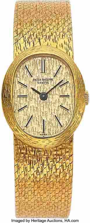 Patek Philippe, Lady's 18k Yellow Gold Bracelet
