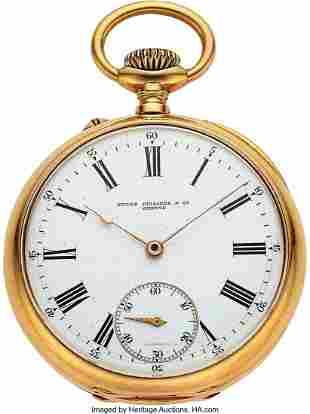 54051: Patek Philippe, 18k Gold Pocket Watch, Original