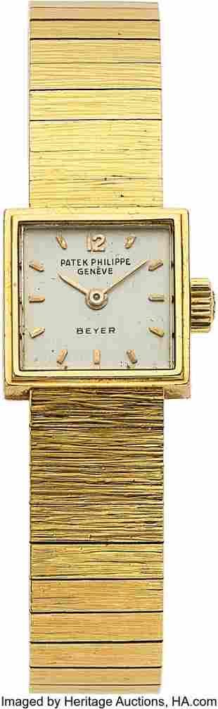 Patek Philippe, Lady's 18k Gold Wristwatch For B