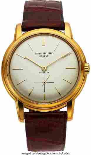 54082: Patek Philippe, A Very Rare Yellow Gold Ref. 255