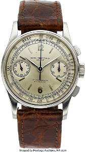 54084: Patek Philippe, A Fine And Rare Stainless Steel