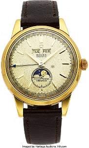 """54092: Rolex, Rare """"Padellone"""" Yellow Gold Triple Calen"""