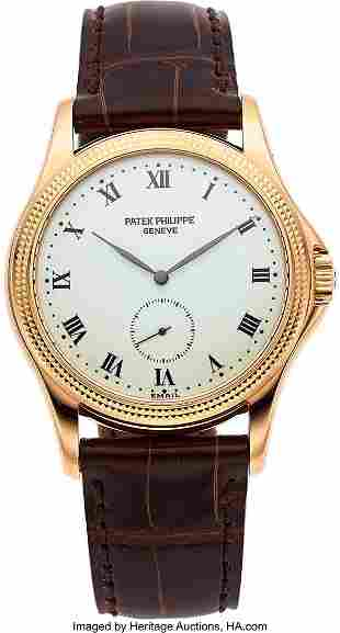 54079: Patek Philippe, Fine Rose Gold Wristwatch With E