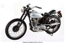 21002: Triumph Trophy TR5 500 Custom Motorcycle Ridden