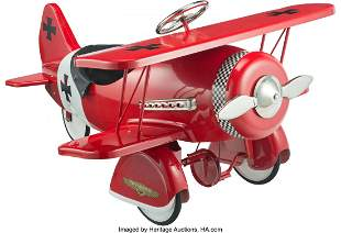 21028: Dexton Red Baron Special Edition Pedal Biplane,
