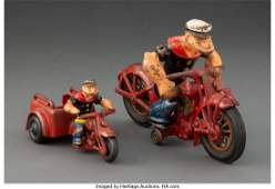 21045: Two Vintage Hubley Manufacturing Company Cast Ir