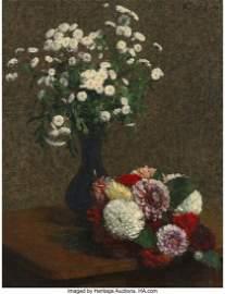 69056: Henri Fantin-Latour (French, 1836-1904) Fleurs: