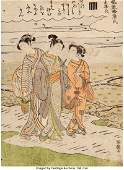 28352: Isoda Koryusai (Japanese, 1735-1810) Parody of t