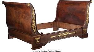 61124: A Fine French Empire Gilt Bronze Mounted Mahogan