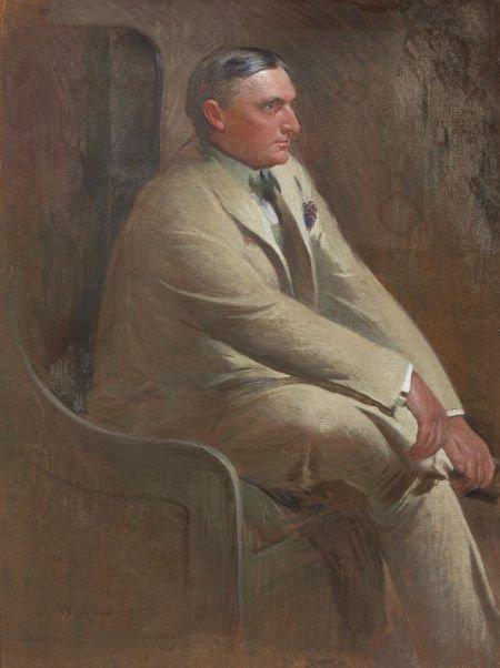 JOHN WHITE ALEXANDER (American, 1856-1915) Portrait of