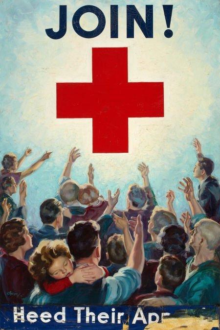 SAM CHERRY (American, 1903-1975) Join, poster illustrat