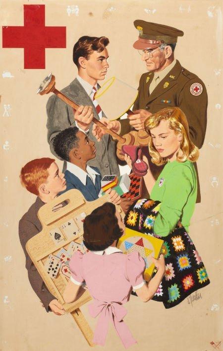 AL PARKER (American, 1906-1985) American Junior Red Cro