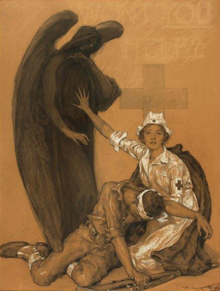 ROBERT REID (American, 1862-1929) Will You Help? Mixed