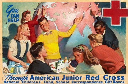 RICO TOMASO (American, 1898-1985) You Can Help, America