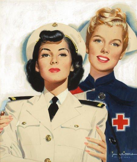 JON WHITCOMB (American, 1906-1988) A. R. C. Nursing, 19