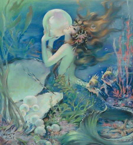 HENRY O'HARA CLIVE (American, 1881-1960) The Mermaid, A