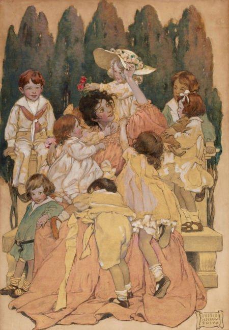 JESSIE WILLCOX SMITH (American, 1863-1935) A Child's Ga